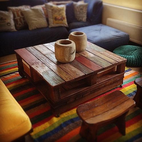 Mesa de Centro Wood Multicolor