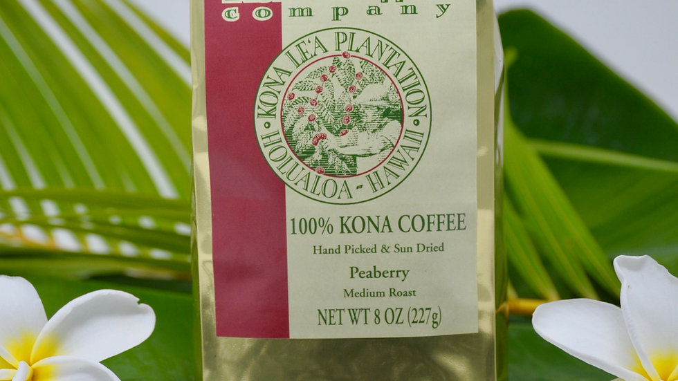 100% Kona Peaberry Coffee   8 oz