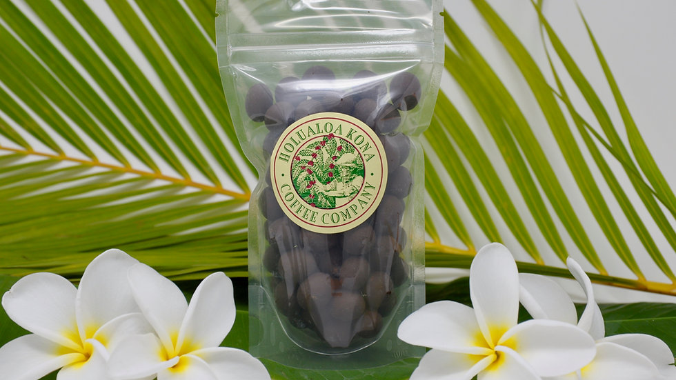 Chocolate Covered Peaberry Coffee Beans
