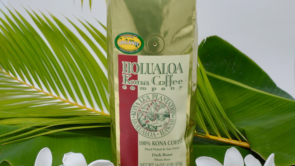 Certified Organic Estate 100% Kona Coffee 1 lb