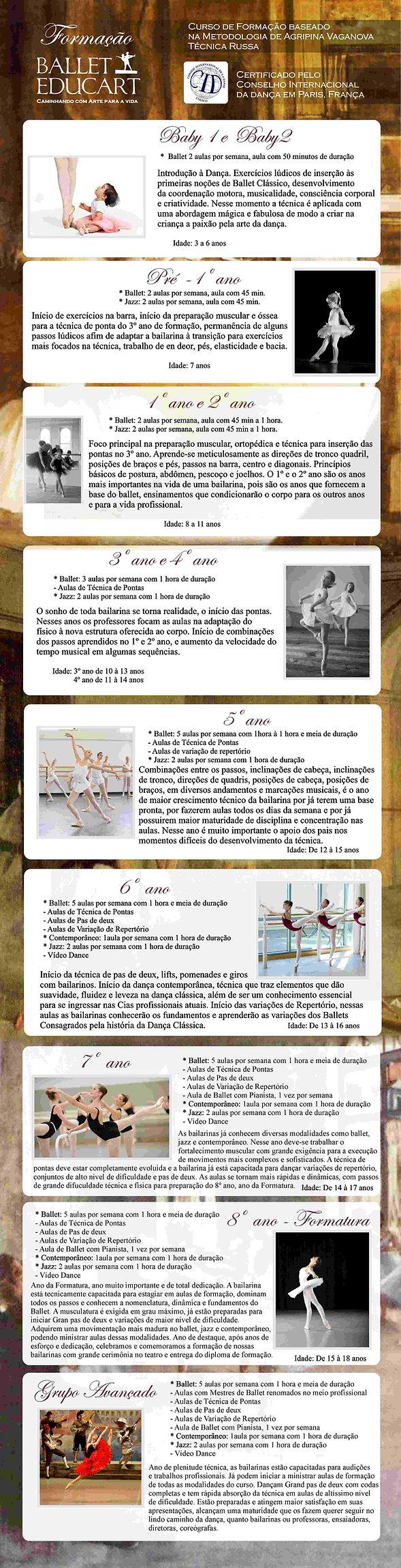 Curso de Formação Ballet Educart