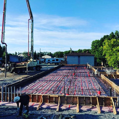 Concrete forming, rebar and screed preparation