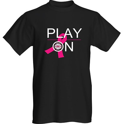 """LWH """"Play On"""" Breast Cancer Awareness T-Shirt"""