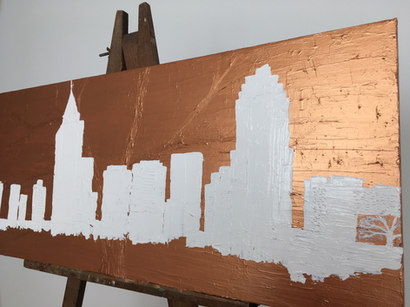 Raleigh | white & copper