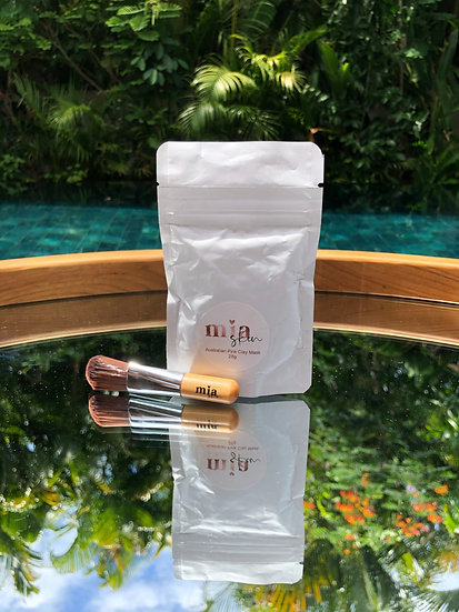 mia mini Australian Botanical Pink Clay Mask 28g with our 'FREE' brush included