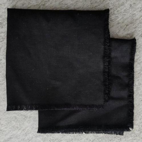 Black fringe napkins