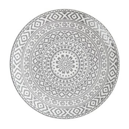 Kaza Gray Accent Plate (5 per set)