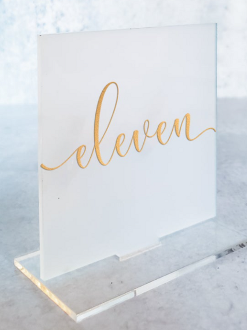 Frosted Acrylic Table Number