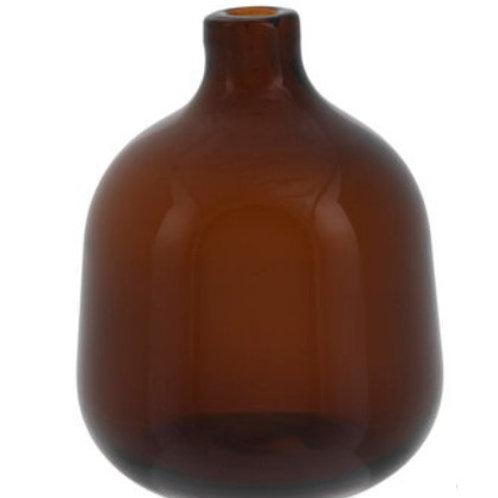 Brown glass bud vase