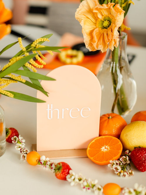 Peach Arch Table Number