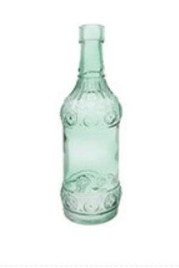 Green embossed bottle small