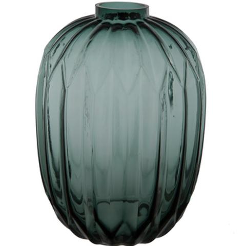 Teal Geometric Vase