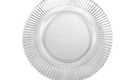 Crystal Glass Charger Dinner Plate