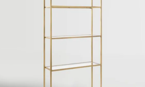 Natasha Gold Shelving