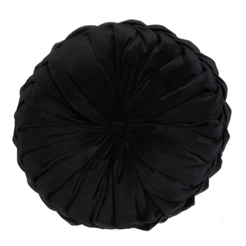 Black Round Pillow