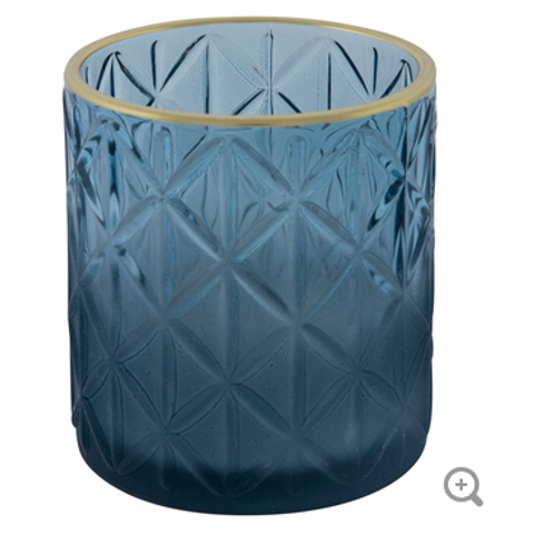 Blue and Gold Tealight Holders