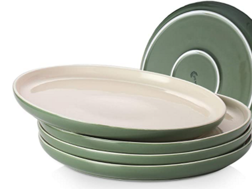 Green and White Plates