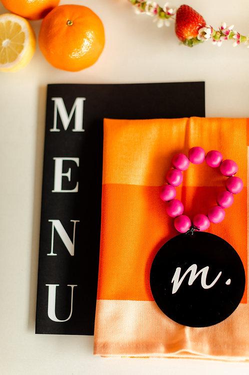 Pink and Orange Napkin