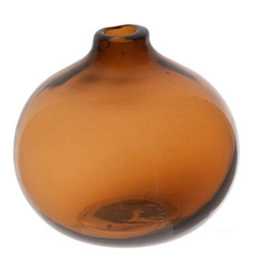 Brown round bud vase