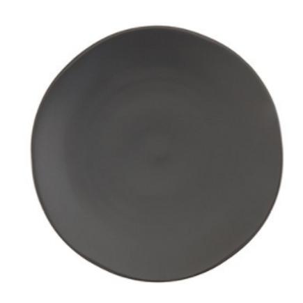 Black Stoneware Dinner Plate