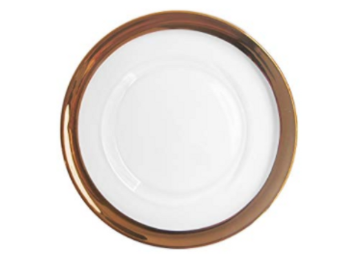 Copper Rimmed Charger