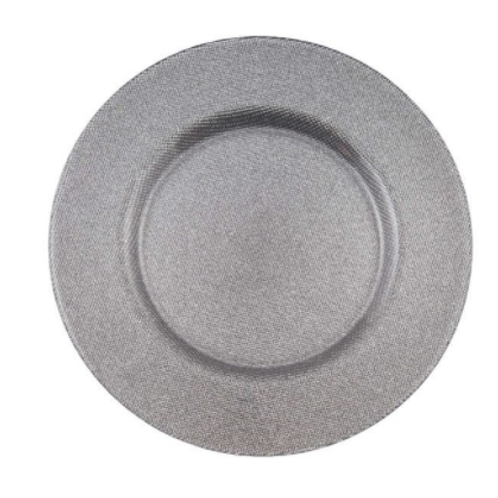 Silver Reflex Charger Plate