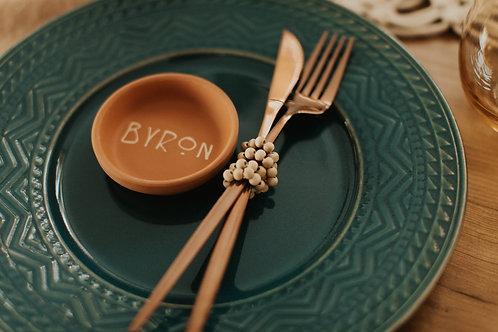 Aztec Teal Dinner Plates