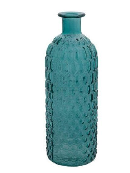 Blue hexagon vase