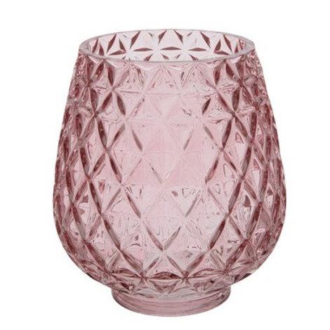 Pink diamond candle holder