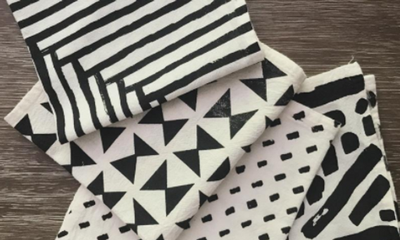 Black and White Pattern Napkins