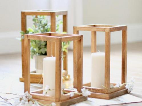 Honey Wood Lanterns