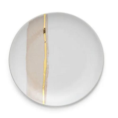 Crackled Pink Salad Plate