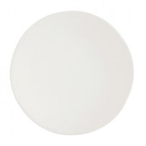 White Stoneware Dinner Plate