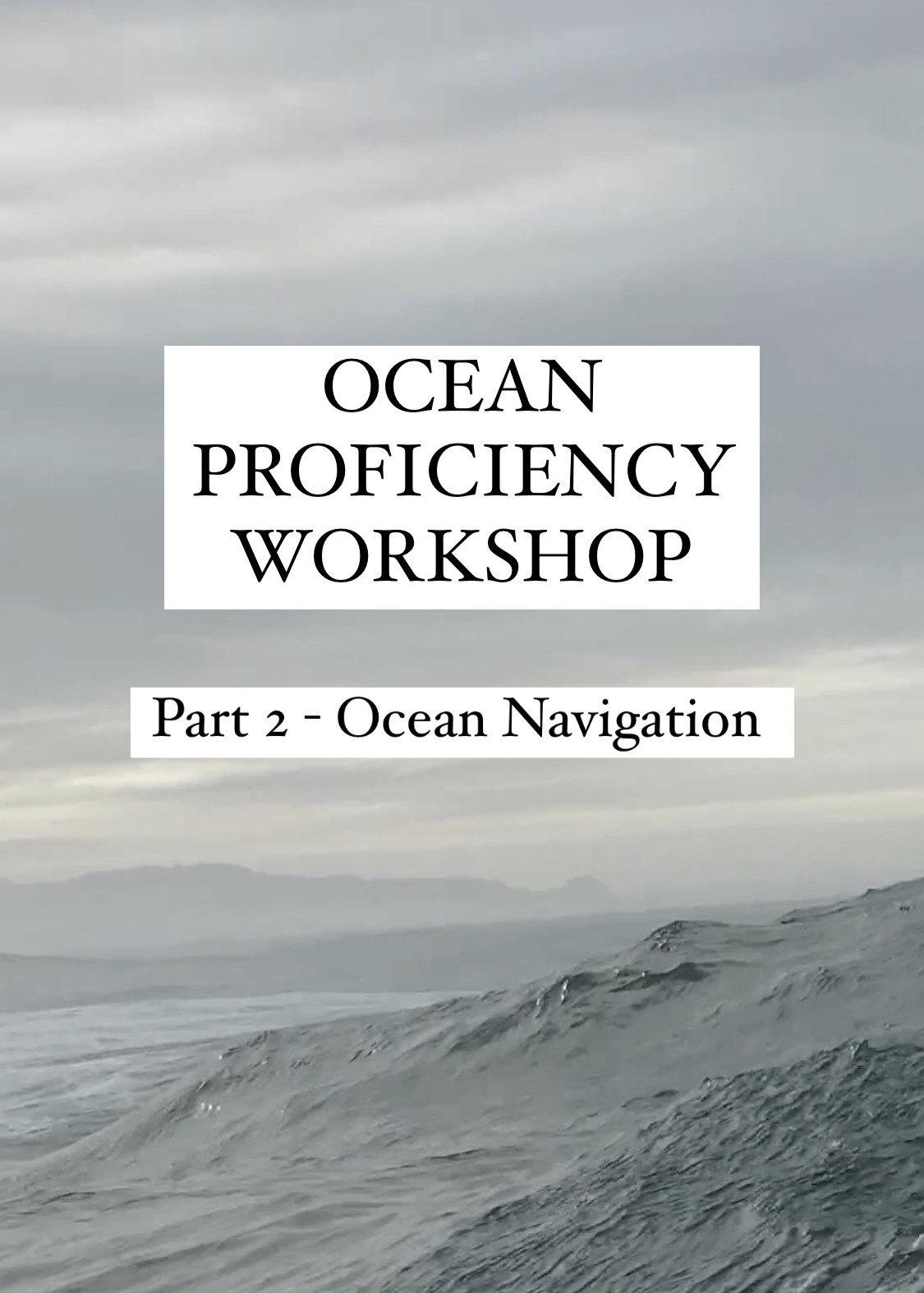 North Coast Ocean Proficiency Workshop 2