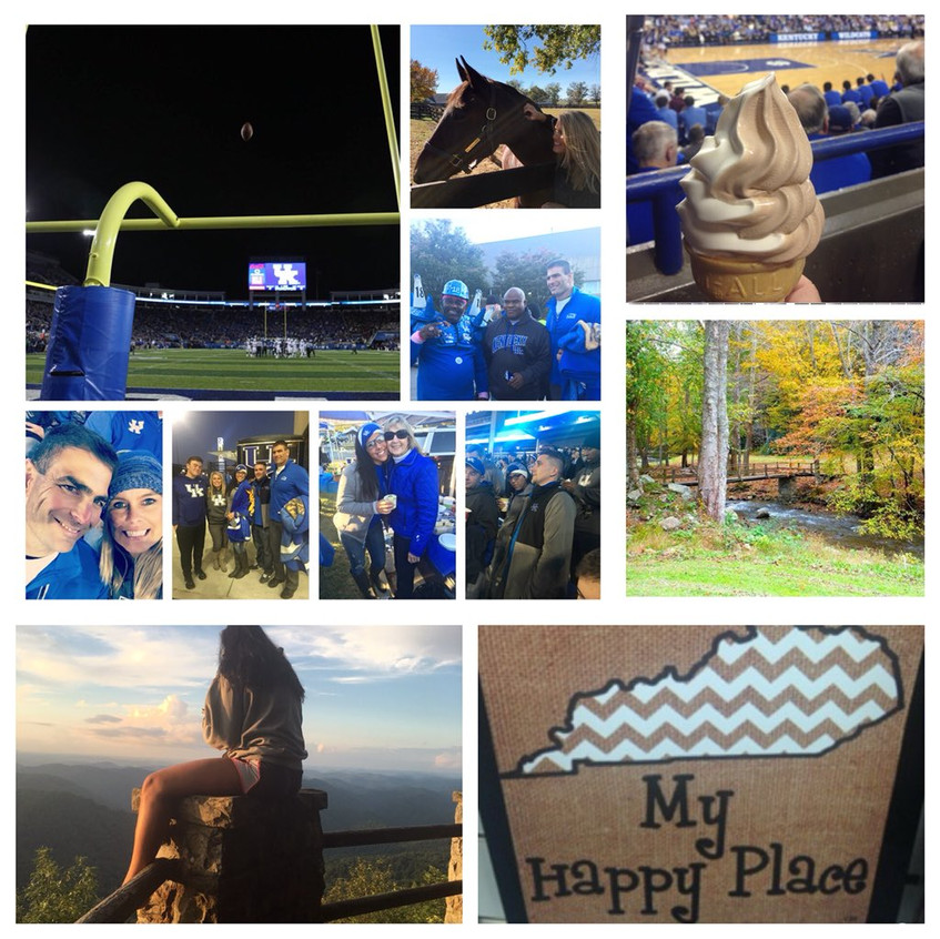 I tried to capture everything that means so much to me 💙football, tailgating, Rupp and it's ice cream, horses, family, friends, Harlan County mountains and a bridge my dad built:)