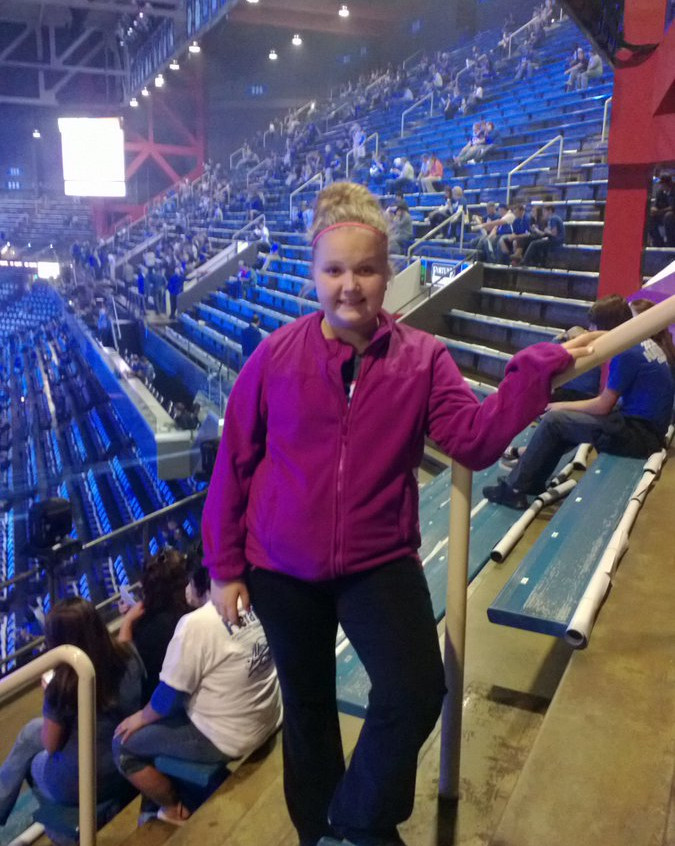 Here is a pic of my daughter at her 1st BIG BLUE MADNESS! Love #RuppArena