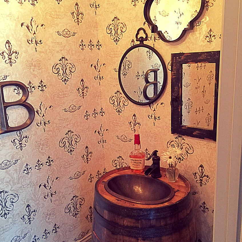 Look at this sink!!  One of our favorite pieces in the Chateau.