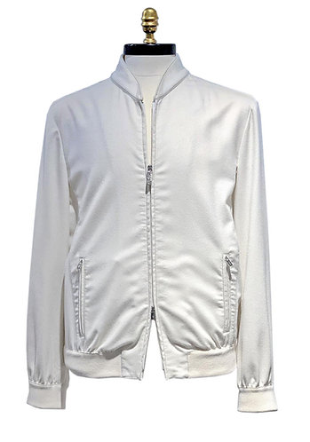 Cashmere Bomber Jacket Off White