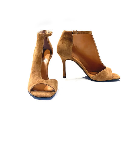 Suede Ankle Boots/Sandal Tobacco