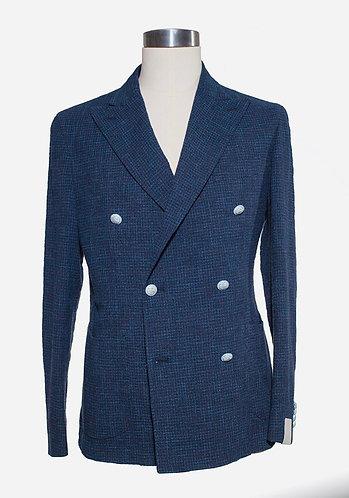 Double breast cotton/linen jacket