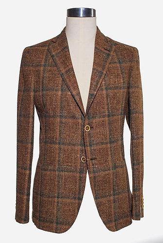 Single breast wool/cotton jacket
