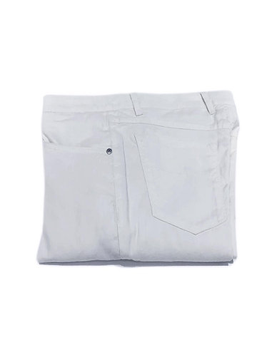 5 Pocket Stretch Cotton Pants - Made in Italy - White
