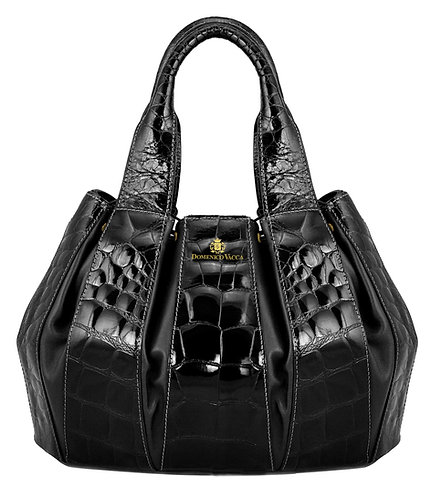 Julie Bag Crocodile Black