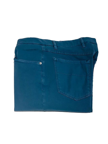 5 Pocket Stretch Cotton Pants - Made in Italy - Blue