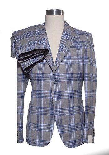 Single breast cotton suit