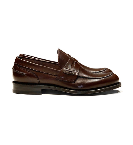 Leather Loafer Shoes Brown
