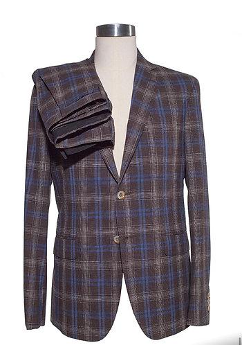 Single breast cotton/linen suit