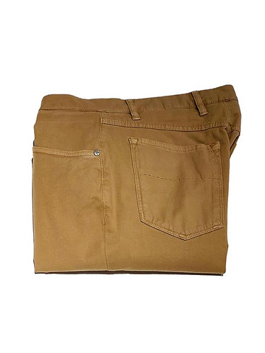 5 Pocket Stretch Cotton Pants - Made in Italy - Safari Beige