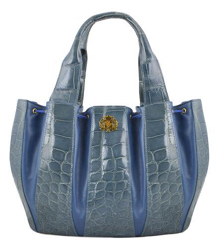 Julie Bag Crocodile Open Blue