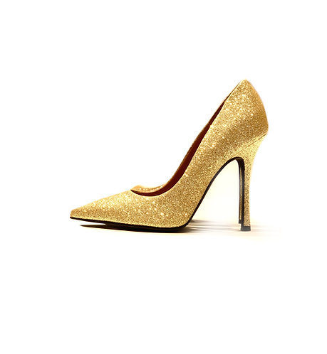 Glitter Decollete Gold